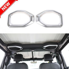 Car Top Roof Speaker Cover Trim Decor Ring For 2018 2019 Jeep Wrangler JL Silver
