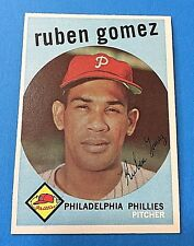 "1959 Topps #535 ""Ruben Gomez"" Pitcher Philadelphia Phillies Baseball Card (MT)"