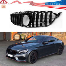 GTR Grille for Mercedes Benz w205 AMG Look C200 C250 C300 C350 Black 2015-2018