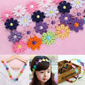 Craft Fashion Water Soluble Embroidered Fabric Daisy Flower Lace Colorful Trim