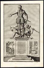 Antique Portrait Print-ALBA-DUKE-SPAIN-Le Clerc-1730