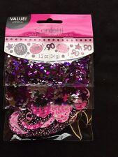 90th Cumpleaños Confeti Decorativo para Mesas Sprinkle Negro Violeta 90 Años