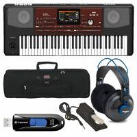 Korg PA700 Professional Arranger 61-Key w/ Touchscreen & Speakers + Bag + Pedal