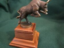 Vintage Bronze Bull Statue Sculpture ~ Signed by S. A. Efron ~ Wall Street