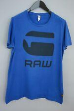 Men G-Star Raw Denim T-Shirt Blue Crew NeckCotton Short Sleeves L VAA914