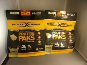 2 Pack Vanilla Body Fortress Protein Paks. Whey Protein. 18 packs.EXP 06/20+