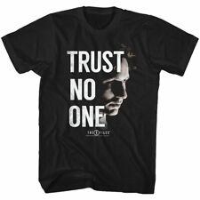 X-Files Mens Short Sleeve T-Shirt Black Trust No One Crewneck Casual Graphic Tee