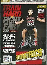 Anthony Pettis Signed Train Hard Fight Easy Magazine PSA/DNA COA UFC Autograph