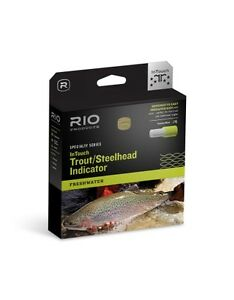 RIO NEW IN TOUCH TROUT/STEELHEAD INDICATOR WF-7-F #7 WT FWD FLOATING FLY LINE