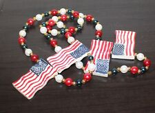 Independence Day American Flag Necklace America United States Sb6
