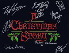 A Christmas Story Cast Signed Autographed 8x10 Photo  w/COA - 8 Signatures!