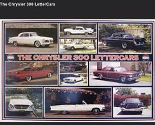 The Chrysler 300 Letter Cars History /Hard to Find,Orig Printings Car Poster!!