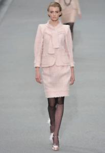 CHANEL Pink Fantasy Tweed Fringe Sequin Jacket and Skirt Set (retail £7,600)