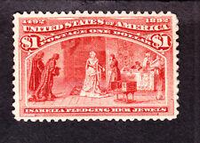 US 241 $1 Columbian Exposition Mint VF-XF OG H SCV $1000
