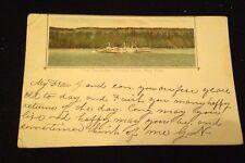 Vintage 1905 Postcard Hudson River Day Line Palisades Souvenir Card
