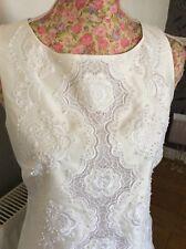 Rare Monsoon Sandy Ivory Beaded Wiggle Brides Dress Size 10 Bnwot Hols 9 May