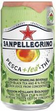 San Pellegrino Organic Sparkling Peach Iced Tea Cans 24 x 250ml BBE 12/2020
