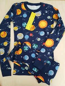 NWT HANNA ANDERSSON MILKY WAY SPACE LONG JOHN PAJAMAS 160 14 HTF