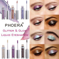 NEW Fashion 12 Color PHOERA Magnificent Metals Glitter and Glow Liquid Eyeshadow