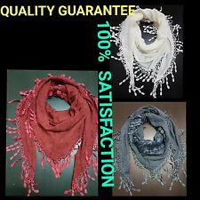 STUNNING lace crochet triangular scarf, wrap top, cape, shawl TASSEL ELLEGANT