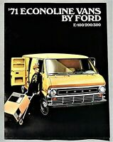 ORIGINAL 1971 FORD ECONOLINE VAN SALES BROCHURE ~ 12 PAGES ~ 71FORDEVAN
