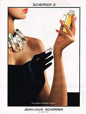 PUBLICITE ADVERTISING 025  1991  JEAN-LOUIS SCHERRER 2  parfum haute couture