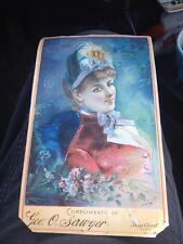 Antique TRADE CARD Victorian GEIRGE SAWYER Hartford, CT. Ladies Goods c1880-90s