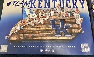 Kentucky Men's Basketball 2020-2021 Poster UK Wildcats FREE SHIPPING