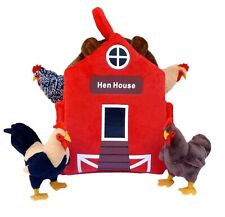 "ADORE 12"" Hen House Chicken Coop Plush Stuffed Animal Playset"