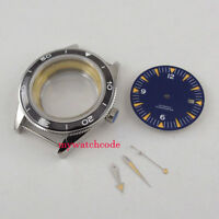 41mm sapphire glass sterile Watch Case + dial + hand fit ETA 2824 2836 MOVEMENT