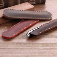 Luxury Pen Bag Leather Fountain Ballpoint Pen Case Pouch Design Accessories New