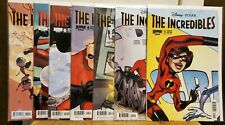 THE INCREDIBLES #1-4 (MINI-SERIES) & #0 1 2 (ON-GOING) MARK TAKARA SIGNED #1, 2