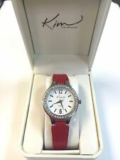 Beautiful Kim Rogers Red Quartz Wrist Watch NIB