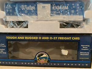 MTH 20-80003E 2001 D.A.P. Christmas Box Car NIB