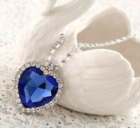 Collier Titanic Coeur de l'Océan Heart of the Ocean Bleu