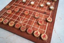 "Chinese Chess, Xiangqi, 13.8"" MDF Board, 1.1"" Green sandalwood chess pieces"