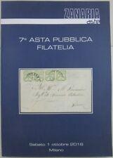 "X 1956 CATALOGO ""ZANARIA ASTE"" – 7° ASTA PUBBLICA FILATELIA – I OTTOBRE 2016"