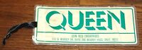QUEEN BRIAN SPENCER'S ORIGINAL NEWS OF THE WORLD 1977 USA TOUR LUGGAGE TAG