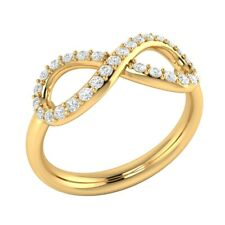 Wedding Ring 14k Yellow Gold Gp 0.30 Ct 8-Style Round Solitaire Diamond Infinity