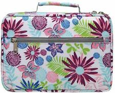 Multi Color Bible Cover Carrier Carrying Bag Floral Pattern Print Scripture Tote