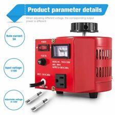 New Listingvariac Transformer Variable Ac Voltage Regulator Metered 500w 5amp 0 130v