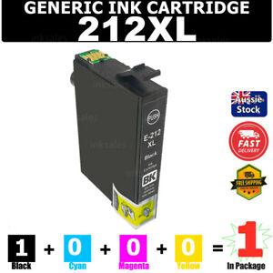 1x Generic Ink 212 212XL Black For Epson XP-2100 XP-3100 XP-3105 XP-4100 WF2810