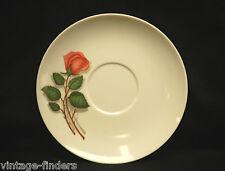 Old Vintage Royalon Melmac Pink Rose Saucer #305 Melamine Tableware Mid-Century