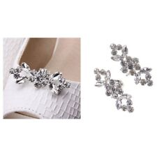 2Pcs Of 1 Pack Rhinestone Shoes Buckle Fashion Elegant Shoe Clips For Decorating