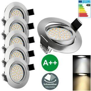 LED Spot Encastré Einbau-Leuchten Lampe Ultra-Flach Decken-Spots Dimmable 6er