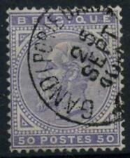 Belgium 1883 SG#66, 50c Violet Used Cat £46 #D74415