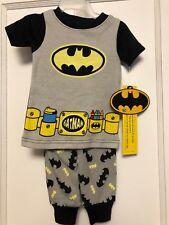 NEW DC Comics Batman Baby  2 Piece Pajama Set Short Sleeve Top & Pants 9 MONTHS