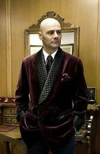 Men Burgundy Smoking Jacket Designer Quilted Dinner Party Wear Blazer Coat