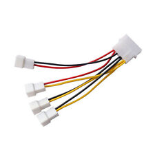 adjust speed 4x3Pin Fans to D type 4Pin Molex Power Y-Splitter Cable 12v/7v/5v