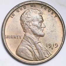1919-D Lincoln Wheat Small Cent CHOICE BU FREE SHIPPING E145 RFT